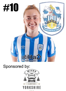 HTWFC's Number 10 for the 21/22 Season: Laura Elford sponsored by Micro Campers Yorkshire