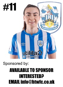 HTWFC's Number 11 for the 21/22 Season: Britt Sanderson available to sponsor