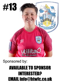 HTWFC's Number 13 for the 21/22 Season: Phoebe Tomlin (goalkeeper) available to sponsor