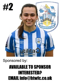 HTWFC's Number 2 for the 21/22 Season: Beth Stanfield available to sponsor