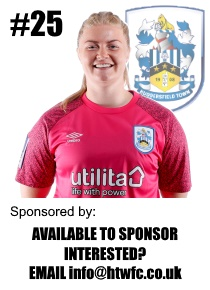 HTWFC's Number 25 for the 21/22 Season: Becky Flaherty (goalkeeper) available to sponsor