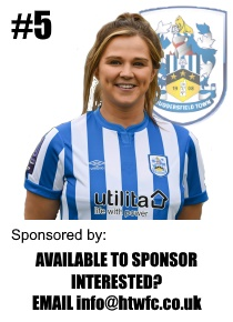 HTWFC's Number 5 for the 21/22 Season: Vicky Abbott available to sponsor
