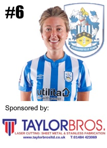 HTWFC's Number 6 for the 21/22 Season: Lauren Griffiths sponsored by Taylor Bros Ltd