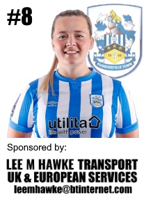 HTWFC's Number 8 for the 21/22 Season: Charley Evans sponsored by Lee M Hawke Transport