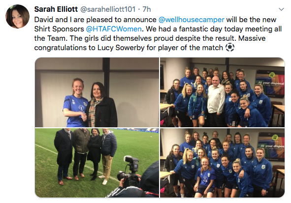 Huddersfield Town Women FC welcomes new partnership