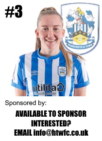 HTWFC's Number 3 for the 21/22 Season: Beth Ibbotson available to sponsor