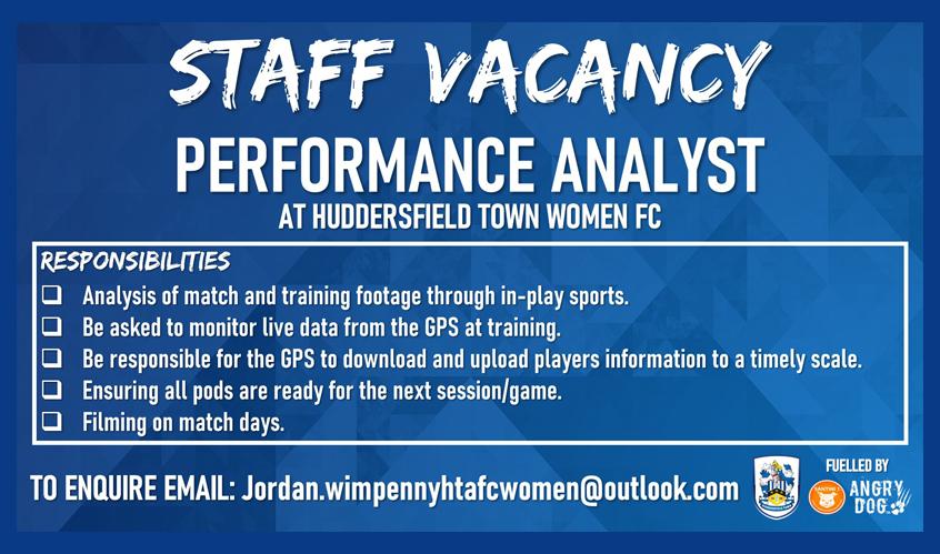 HTWFC - Staff Vacancy