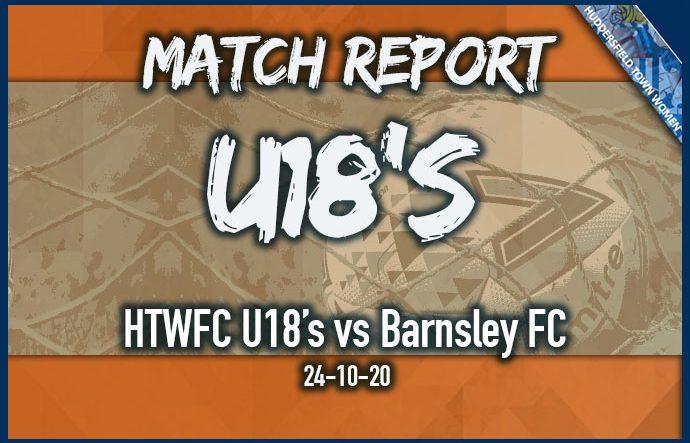 U18's home to Barnsley FC - 24-10-20