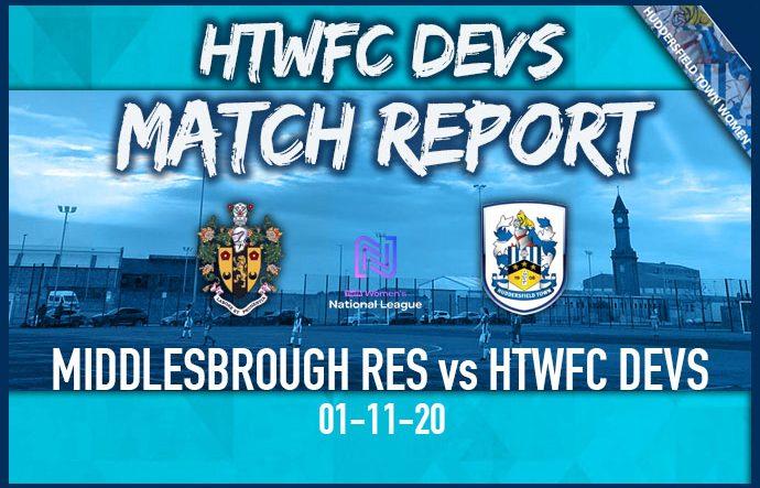 HTWFC Match Report - 01-11-20