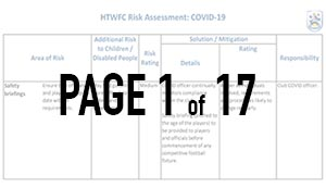 HTWFC Covid-19 Risk Assessment - thumbnail