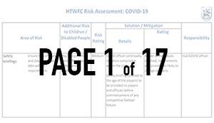HTWFC Covid-19 Risk Assessment - thumbnail
