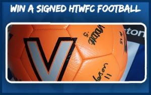 Win a signed HTWFC Football