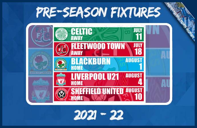 Pre-Season Fixtures - 2021-22