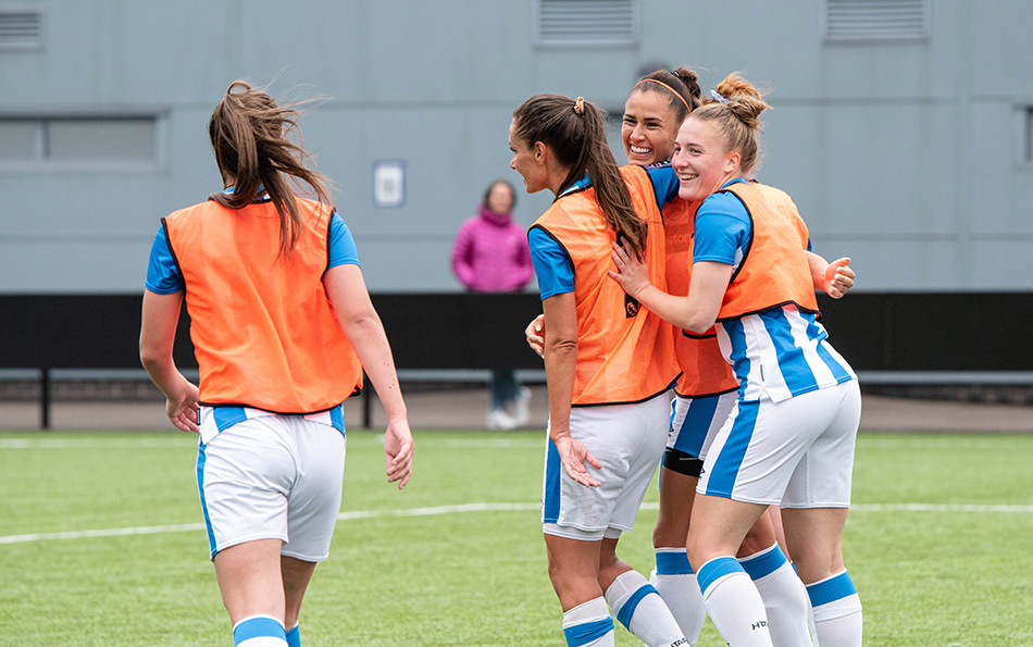 Town Celebrate After Scoring A Goal